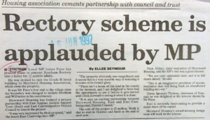 Rectory scheme is applauded by MP